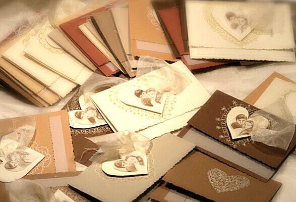 Делаем свадебные открытки